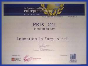 Prix 2004 Entrepreneurship Mention du jury