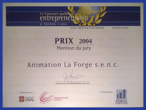 Prix 2004 Entrepreneurship Mention du jury