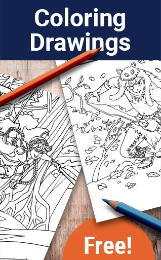 Dessins à colorier (Katag Le jeu de cartes)